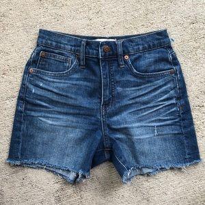 Madewell denim jean shorts 24 frayed raw